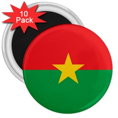 Flag Of Burkina Faso 3  Magnets (10 Pack)  by abbeyz71