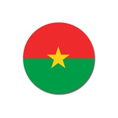 Flag Of Burkina Faso Magnet 3  (round) by abbeyz71