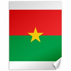 Flag Of Burkina Faso Canvas 18  X 24   by abbeyz71