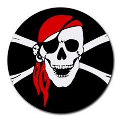 Pirate Skull Round Mousepads by StarvingArtisan