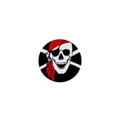 Pirate Skull 1  Mini Magnets by StarvingArtisan