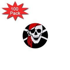 Pirate Skull 1  Mini Buttons (100 Pack)  by StarvingArtisan