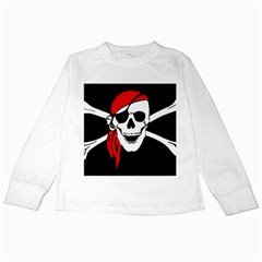 Pirate Skull Kids Long Sleeve T Shirts