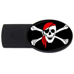Pirate Skull Usb Flash Drive Oval (4 Gb)