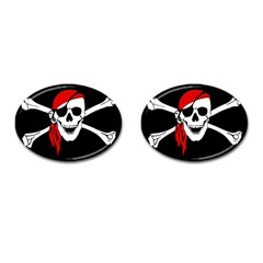 Pirate Skull Cufflinks (oval)