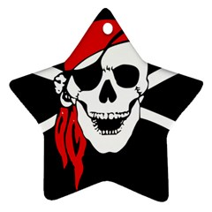 Pirate Skull Star Ornament (two Sides) by StarvingArtisan