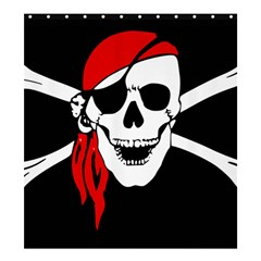 Pirate Skull Shower Curtain 66  X 72  (large)  by StarvingArtisan