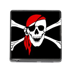 Pirate Skull Memory Card Reader (square) by StarvingArtisan