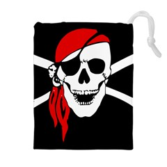 Pirate Skull Drawstring Pouches (extra Large) by StarvingArtisan