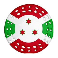 Flag Of Burundi Ornament (round Filigree) by abbeyz71