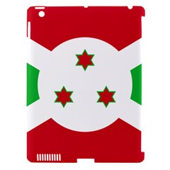 Flag Of Burundi Apple Ipad 3/4 Hardshell Case (compatible With Smart Cover) by abbeyz71