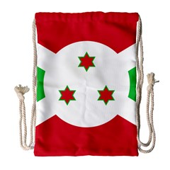 Flag Of Burundi Drawstring Bag (large) by abbeyz71