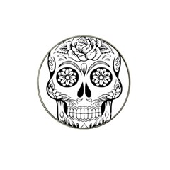 Sugar Skull Hat Clip Ball Marker (4 Pack)