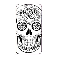 Sugar Skull Apple Iphone 4/4s Seamless Case (black) by StarvingArtisan