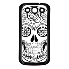 Sugar Skull Samsung Galaxy S3 Back Case (black) by StarvingArtisan