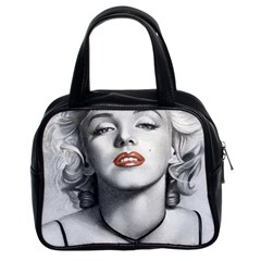 Blonde Bombshell Classic Handbags (2 Sides) by StarvingArtisan