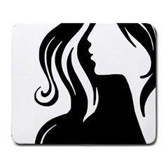 Long Haired Sexy Woman  Large Mousepads by StarvingArtisan