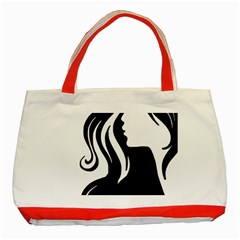 Long Haired Sexy Woman  Classic Tote Bag (red) by StarvingArtisan