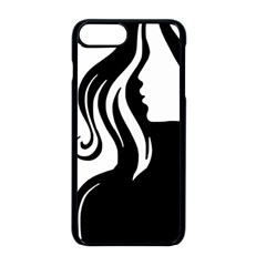 Long Haired Sexy Woman  Apple Iphone 8 Plus Seamless Case (black) by StarvingArtisan