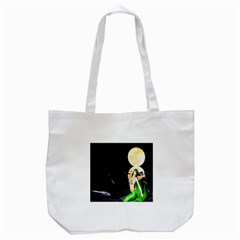 Sexy Mermaid In The Moonlight Tote Bag (white) by StarvingArtisan