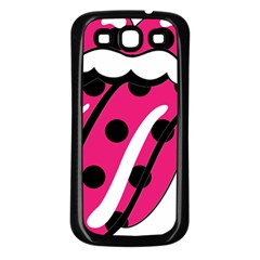 Pink Tongue Samsung Galaxy S3 Back Case (black) by StarvingArtisan