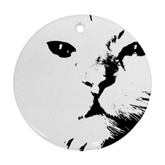Cat Round Ornament (two Sides)