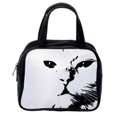 Cat Classic Handbags (one Side) by StarvingArtisan