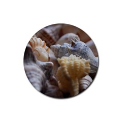 Seashells Rubber Round Coaster (4 Pack)  by StarvingArtisan