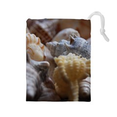 Seashells Drawstring Pouches (large)  by StarvingArtisan
