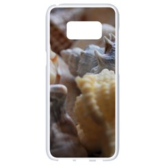Seashells Samsung Galaxy S8 White Seamless Case by StarvingArtisan