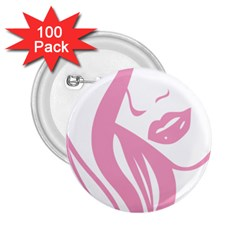 Pinky 2 25  Buttons (100 Pack)