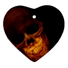 Skull Heart Ornament (two Sides)