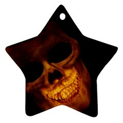 Skull Star Ornament (two Sides)