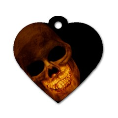 Skull Dog Tag Heart (one Side)