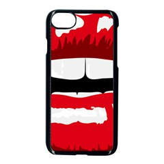 Sexy Mouth  Apple Iphone 7 Seamless Case (black) by StarvingArtisan