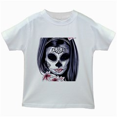 Sugar Skull Kids White T Shirts