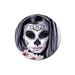 Sugar Skull Magnet 3  (round) by StarvingArtisan