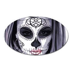 Sugar Skull Oval Magnet by StarvingArtisan