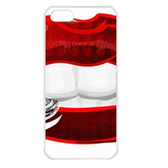 Bite Me Apple Iphone 5 Seamless Case (white) by StarvingArtisan