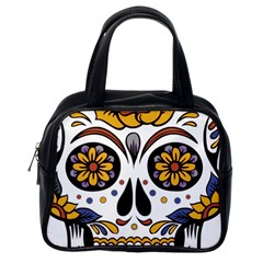 Sugar Skull Classic Handbags (one Side) by StarvingArtisan