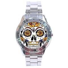 Sugar Skull Stainless Steel Analogue Watch