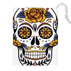 Sugar Skull Drawstring Pouches (xxl) by StarvingArtisan