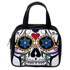 Cranium Sugar Skull Classic Handbags (one Side) by StarvingArtisan