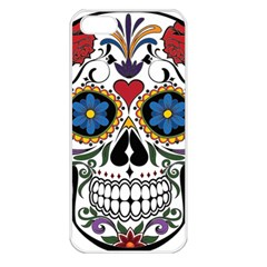 Cranium Sugar Skull Apple Iphone 5 Seamless Case (white) by StarvingArtisan