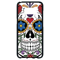 Cranium Sugar Skull Samsung Galaxy S8 Black Seamless Case by StarvingArtisan