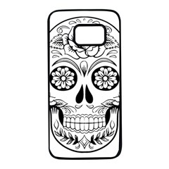 Sugar Skull Samsung Galaxy S7 Black Seamless Case by StarvingArtisan