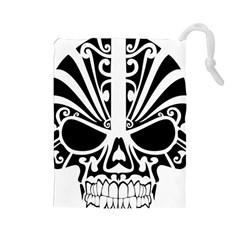 Tribal Sugar Skull Drawstring Pouches (large)
