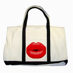 Oooooh Lips Two Tone Tote Bag by StarvingArtisan
