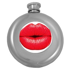 Oooooh Lips Round Hip Flask (5 Oz) by StarvingArtisan