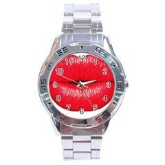 Oooooh Lips Stainless Steel Analogue Watch by StarvingArtisan